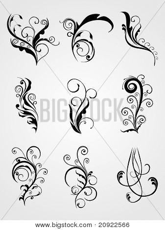 artistic stylish emblem tattoos illustration poster