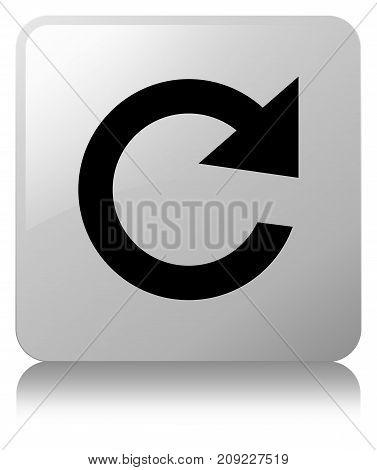 Reply Rotate Icon White Square Button