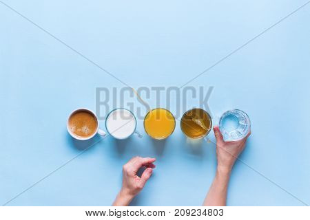 Group Useful Colorful Beverages Coffee Milk Tea