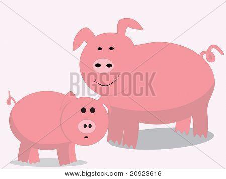 cute pink pig animal background
