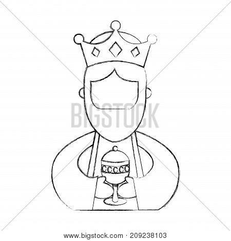 manger wise king christmas celebration bring presents to jesus vector illustration