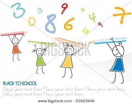 vector kindergarten cartoon, illustration