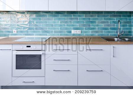 Modern white kitchen furniture