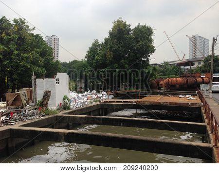 The wane water-distribution canal at sukhumvit bangkok city thailand