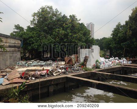 Thai Wane Water distribution canal bangkok thailand