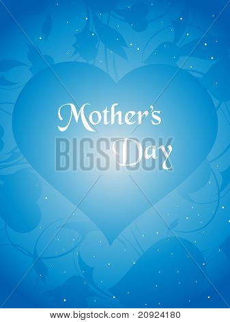 Happy Mother Day Heart Illustration with artistic design
