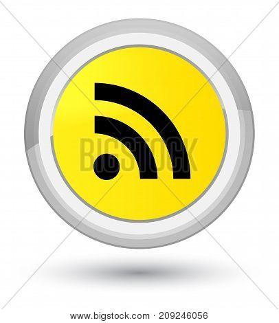 Rss Icon Prime Yellow Round Button