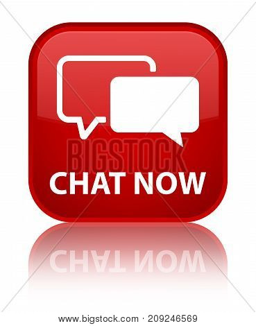 Chat Now Special Red Square Button