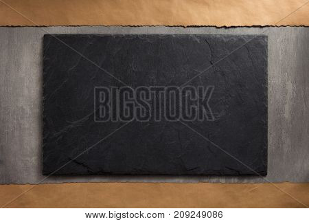 slate and stone wall surface as background texture