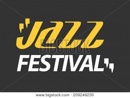 Jazz musical art poster  template for performance party in cafe.  Illustration