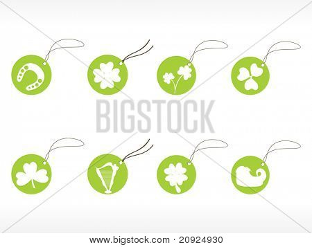 circle pattern shopping tags for st. patrick's day