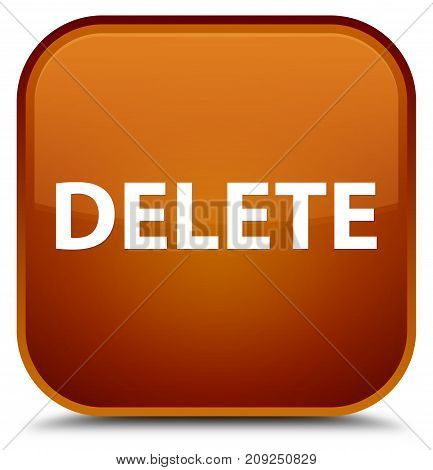 Delete Special Brown Square Button