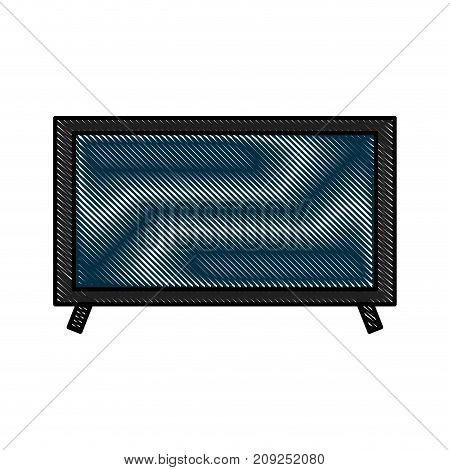television plasma technology device object vector illustration