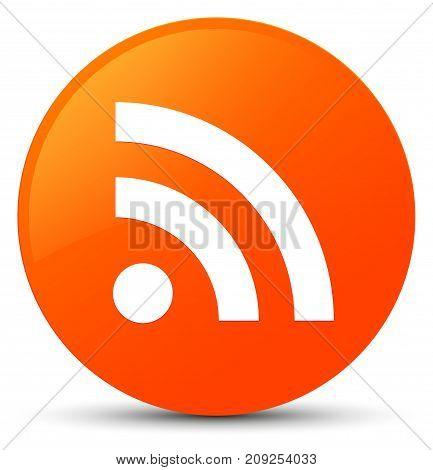Rss Icon Orange Round Button