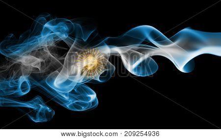 Argentina smoke flag isolated on black background