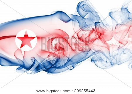 North Korea smoke flag isolated on a white background