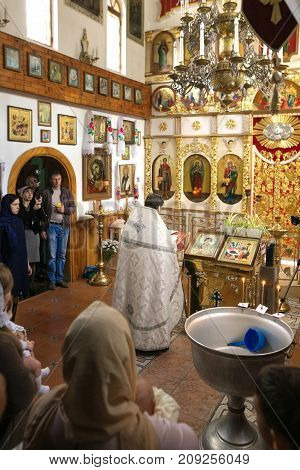 Gomel, Belarus - September 23, 2017: The Church Of The Holy Great Martyr George The Victorious. The