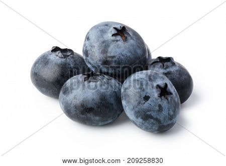 Blueberry. Fresh berries isolated on white background.