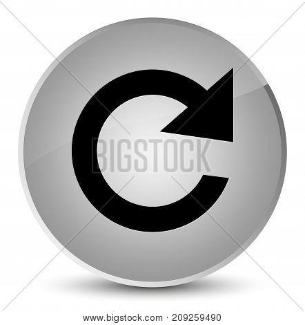 Reply Rotate Icon Elegant White Round Button