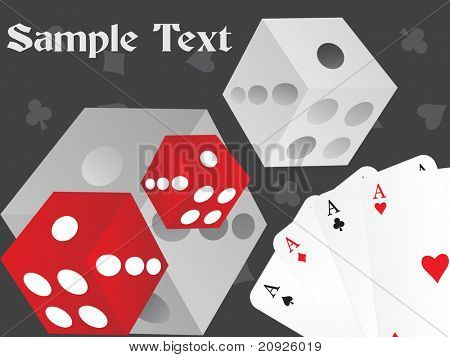 abstract playing cards background with ludo