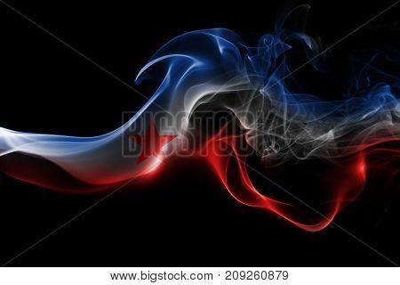 Yugoslavia smoke flag isolated on black background