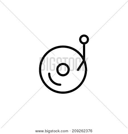 Music flat icon. Single high quality outline symbol of happy birthday for web design or mobile app. Thin line signs of holiday for design logo, visit card, etc. Outline logo of celebration