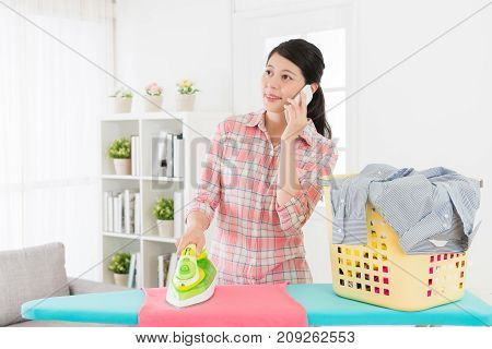 Beauty Woman Using Mobile Cell Phone Calling