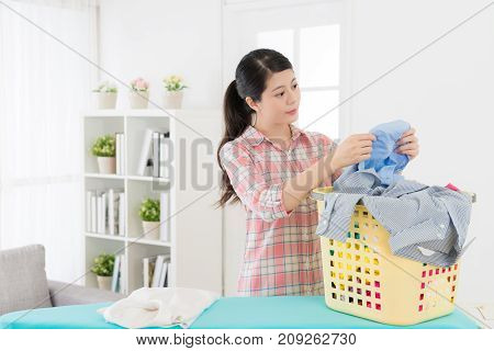 Beautiful Young Lady Doing Housekeeping At Home
