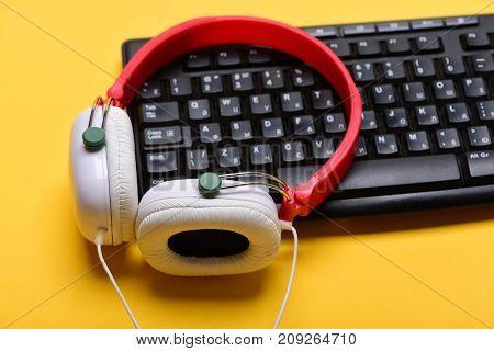 Music And Digital Equipment Concept. Sound Recording Idea