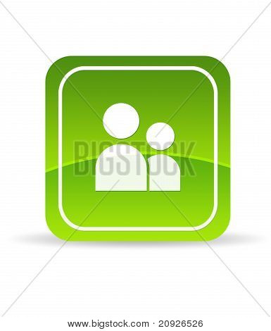 Green User Account Icon