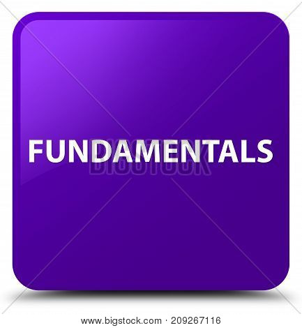 Fundamentals Purple Square Button