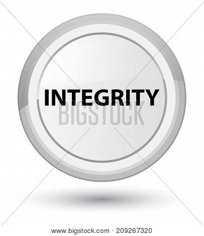Integrity Prime White Round Button