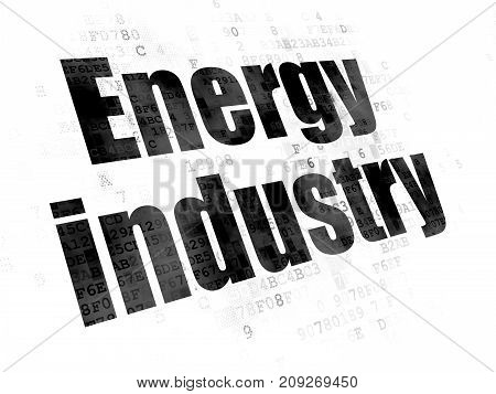 Industry concept: Pixelated black text Energy Industry on Digital background
