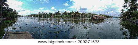 Kerala Backwaters Panorama