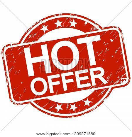 Red Scratched Stamp Hot Offer