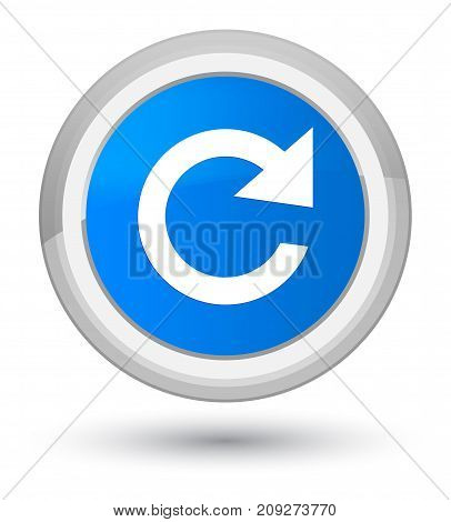 Reply Rotate Icon Prime Cyan Blue Round Button