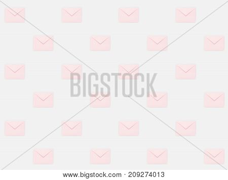close up of repetitive pattern of pink mail envelopes