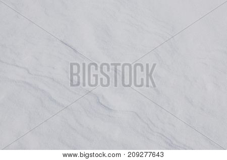 Snow background with windy curves, natural landscape