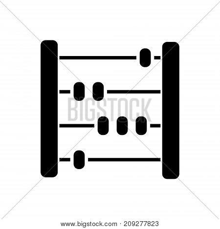 abacus - scores - counter icon, illustration, vector sign on isolated background