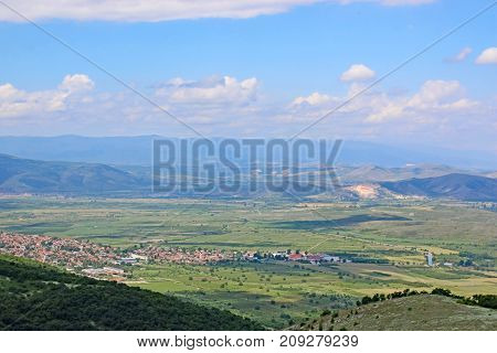 Mountains and valley towns of central Bulgaria