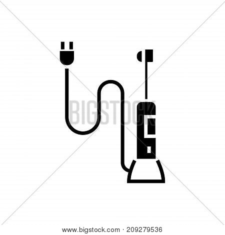 automatic toothbrush icon, illustration, vector sign on isolated background