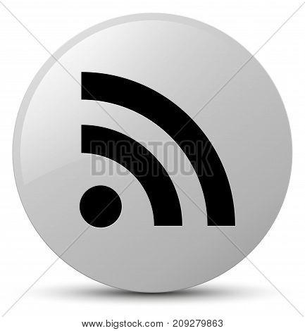 Rss Icon White Round Button