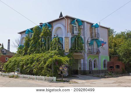 Evpatoria, Republic of Crimea, - July 21, 2017: Hotel