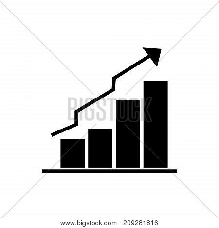 bars graphic ascendant icon, illustration, vector sign on isolated background