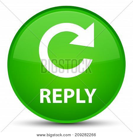 Reply (rotate Arrow Icon) Special Green Round Button