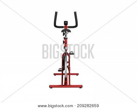 A Sports Bike Home Red In Front 3D Render On A White Background No Shadow