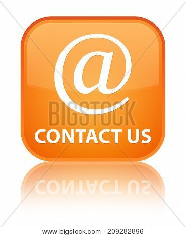 Contact Us (email Address Icon) Special Orange Square Button