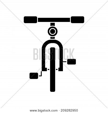 bike front view icon, illustration, vector sign on isolated background
