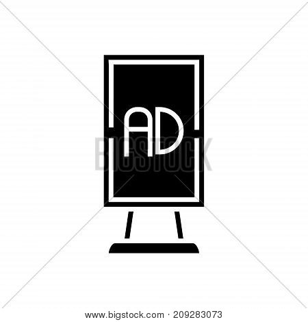 billboard advertising vertical icon, illustration, vector sign on isolated background