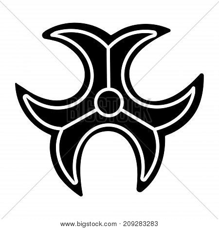 biohazard sign icon, illustration, vector sign on isolated background
